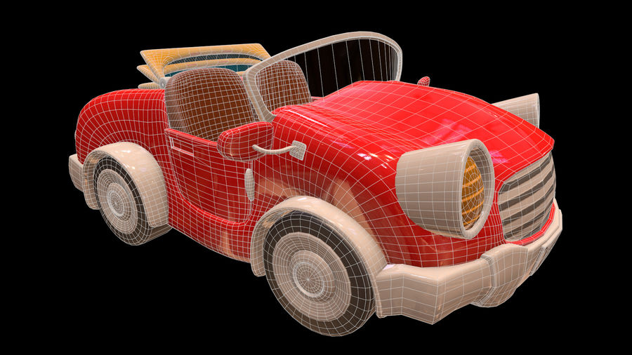 Ativo - Cartoons - Carro - 01 - Modelo 3D royalty-free 3d model - Preview no. 9