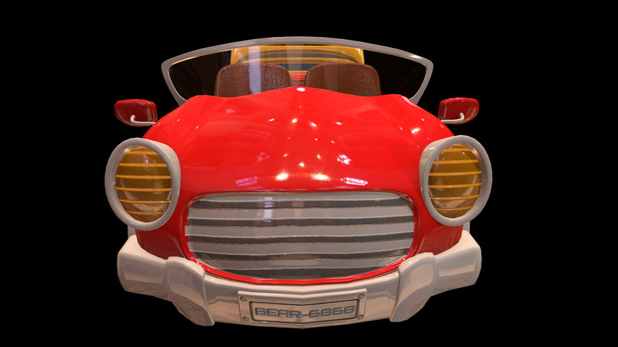 Ativo - Cartoons - Carro - 01 - Modelo 3D royalty-free 3d model - Preview no. 3