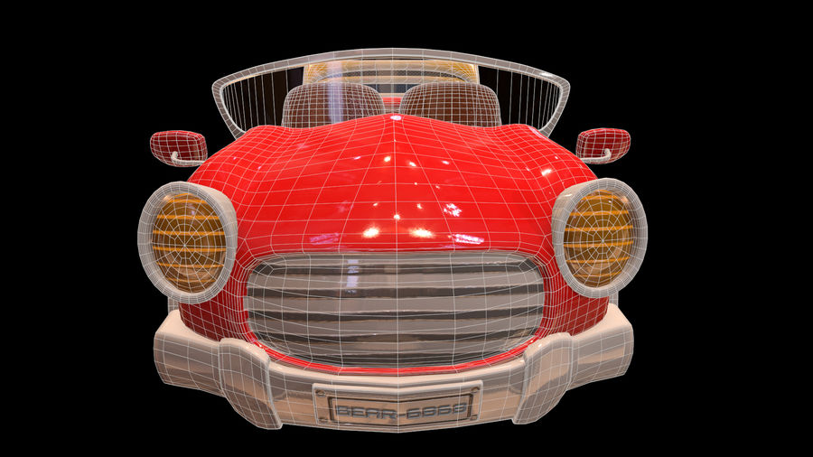 Ativo - Cartoons - Carro - 01 - Modelo 3D royalty-free 3d model - Preview no. 8