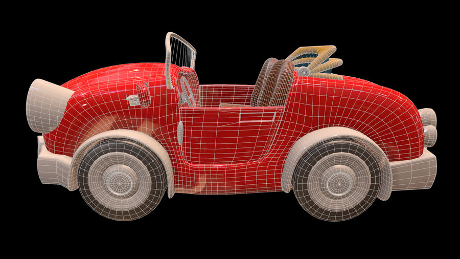 Ativo - Cartoons - Carro - 01 - Modelo 3D royalty-free 3d model - Preview no. 7