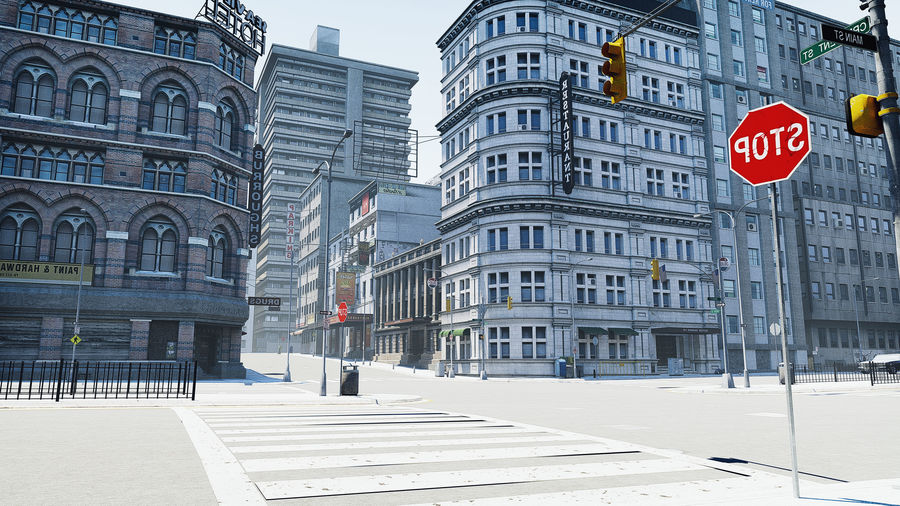 Ciudad urbana royalty-free modelo 3d - Preview no. 4
