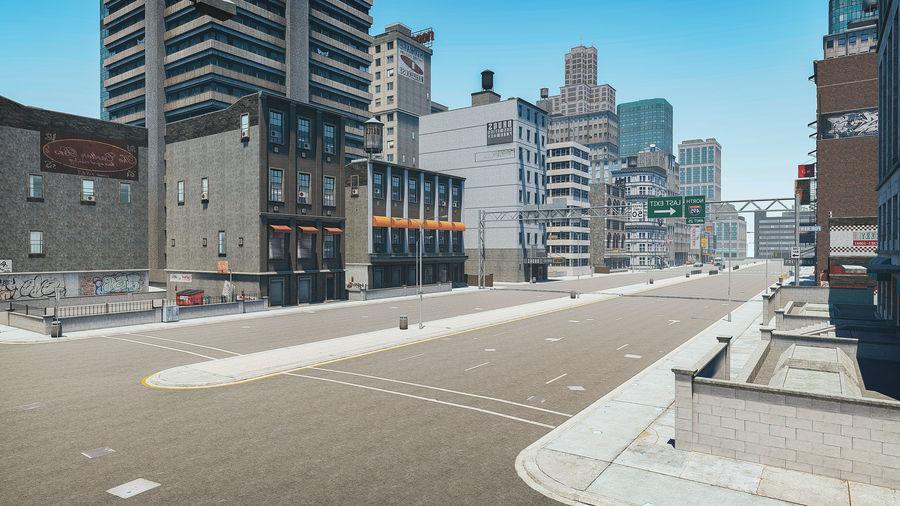 Ciudad urbana royalty-free modelo 3d - Preview no. 2