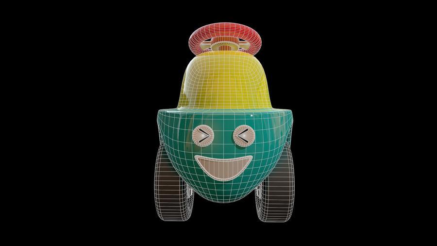 アセット-漫画-ボビーカー-3Dモデル royalty-free 3d model - Preview no. 8
