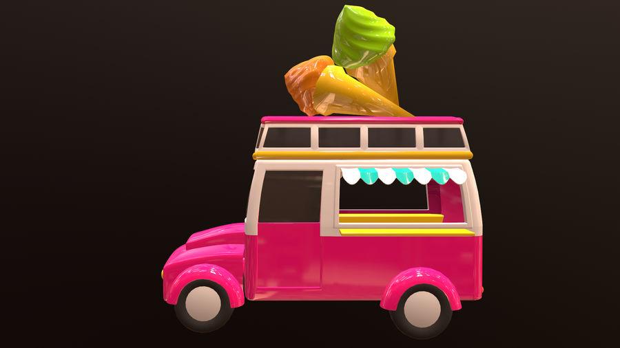 アセット-漫画-車-アイスクリーム-3Dモデル royalty-free 3d model - Preview no. 2