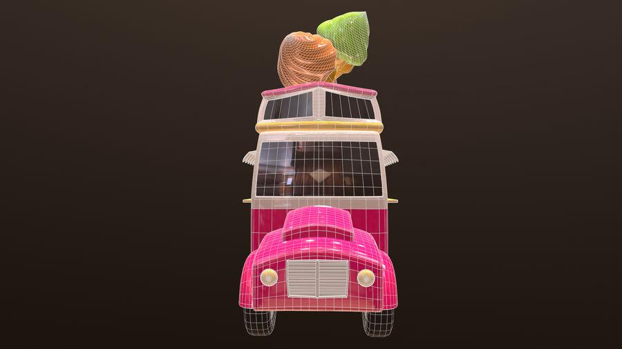 アセット-漫画-車-アイスクリーム-3Dモデル royalty-free 3d model - Preview no. 8