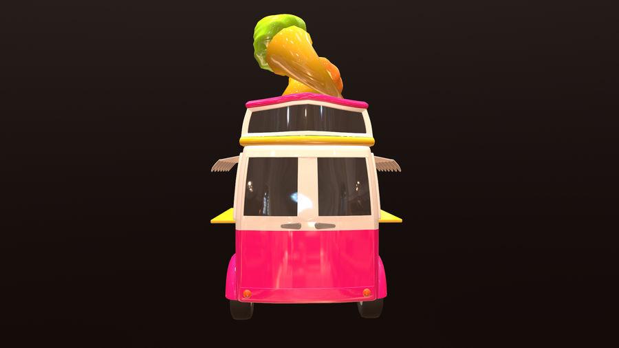 アセット-漫画-車-アイスクリーム-3Dモデル royalty-free 3d model - Preview no. 5