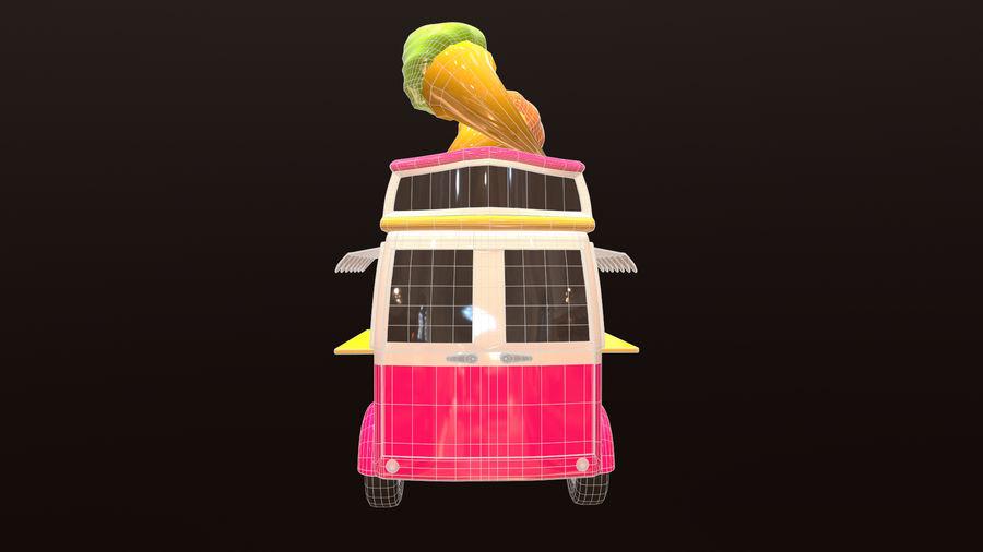 アセット-漫画-車-アイスクリーム-3Dモデル royalty-free 3d model - Preview no. 10
