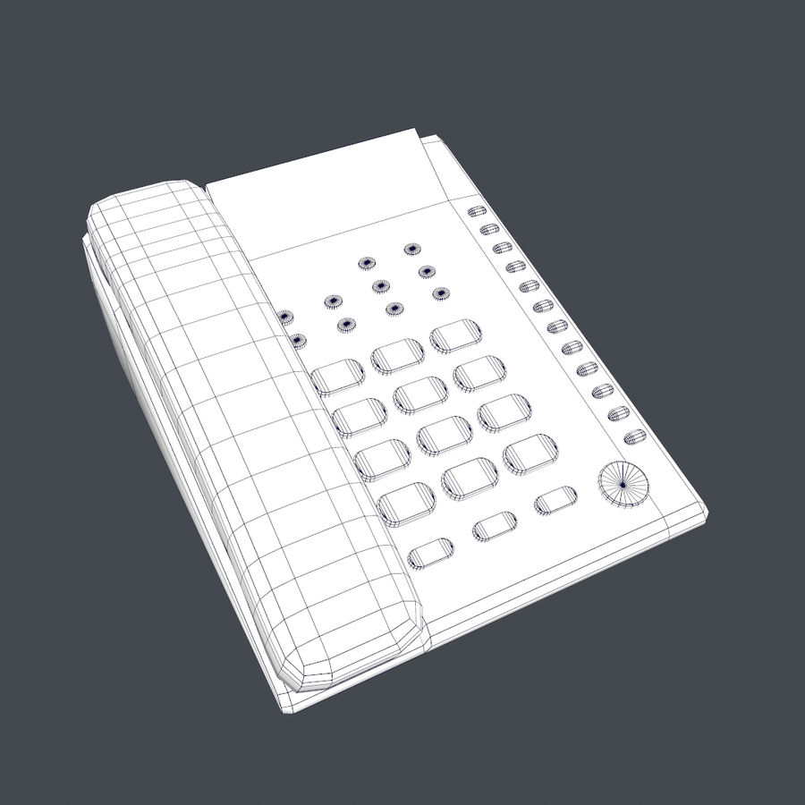 Telefone Comercial royalty-free 3d model - Preview no. 3