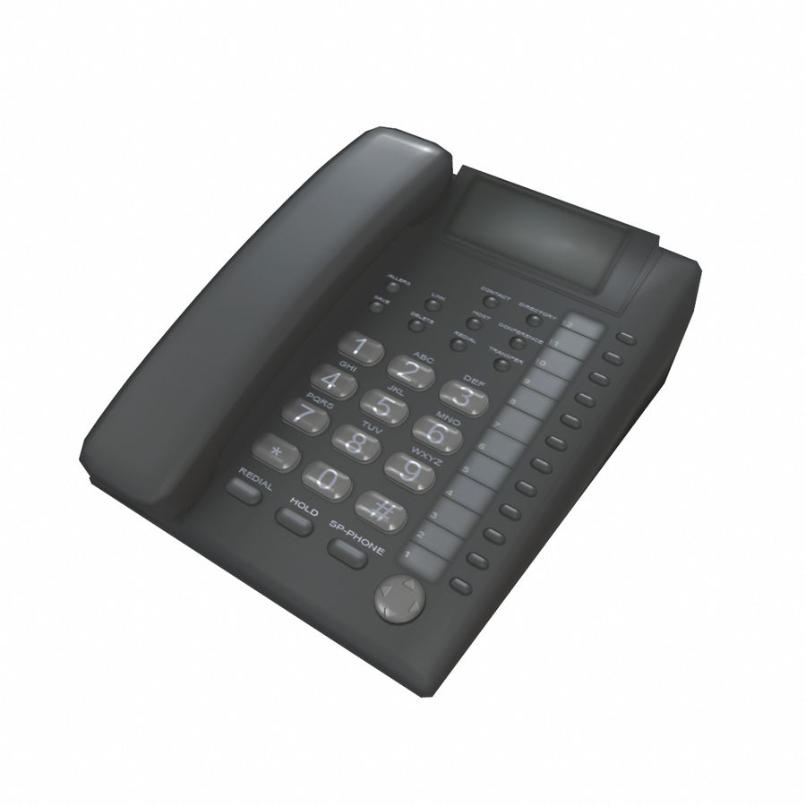 Telefone Comercial royalty-free 3d model - Preview no. 2