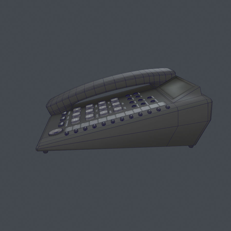 Telefone Comercial royalty-free 3d model - Preview no. 7