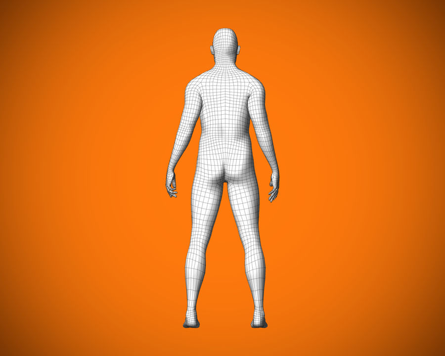 Personaggio maschile royalty-free 3d model - Preview no. 7