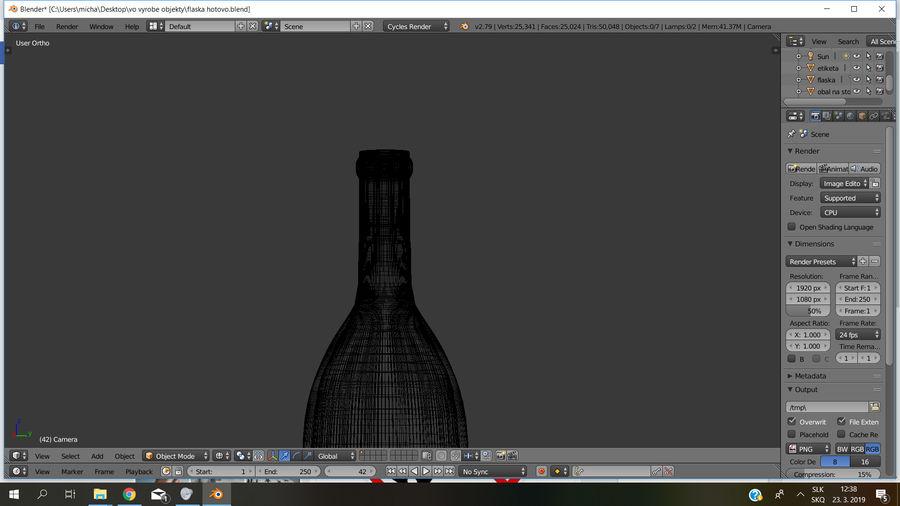 Şarap şişesi royalty-free 3d model - Preview no. 9
