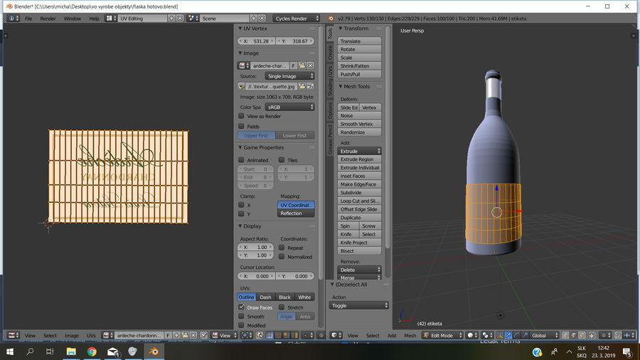 Şarap şişesi royalty-free 3d model - Preview no. 7