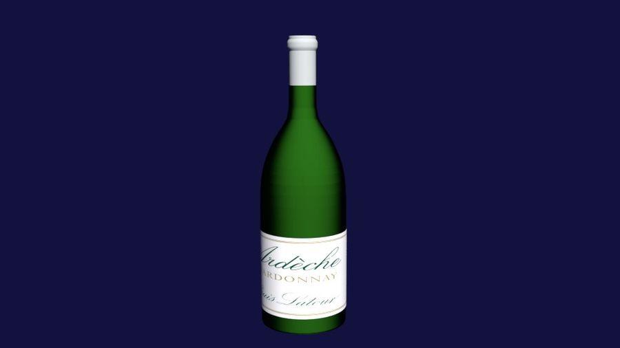 Şarap şişesi royalty-free 3d model - Preview no. 10