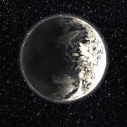 Planeet met ijs oceaan 3d model