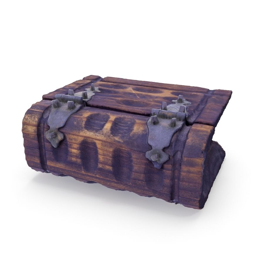 Book Chest Box - 05 wersji Low i High Poly royalty-free 3d model - Preview no. 1