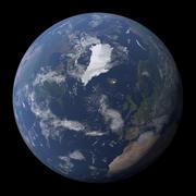 現実的な地球 3d model