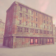 Şehir Binası Modüler Kiti 3d model