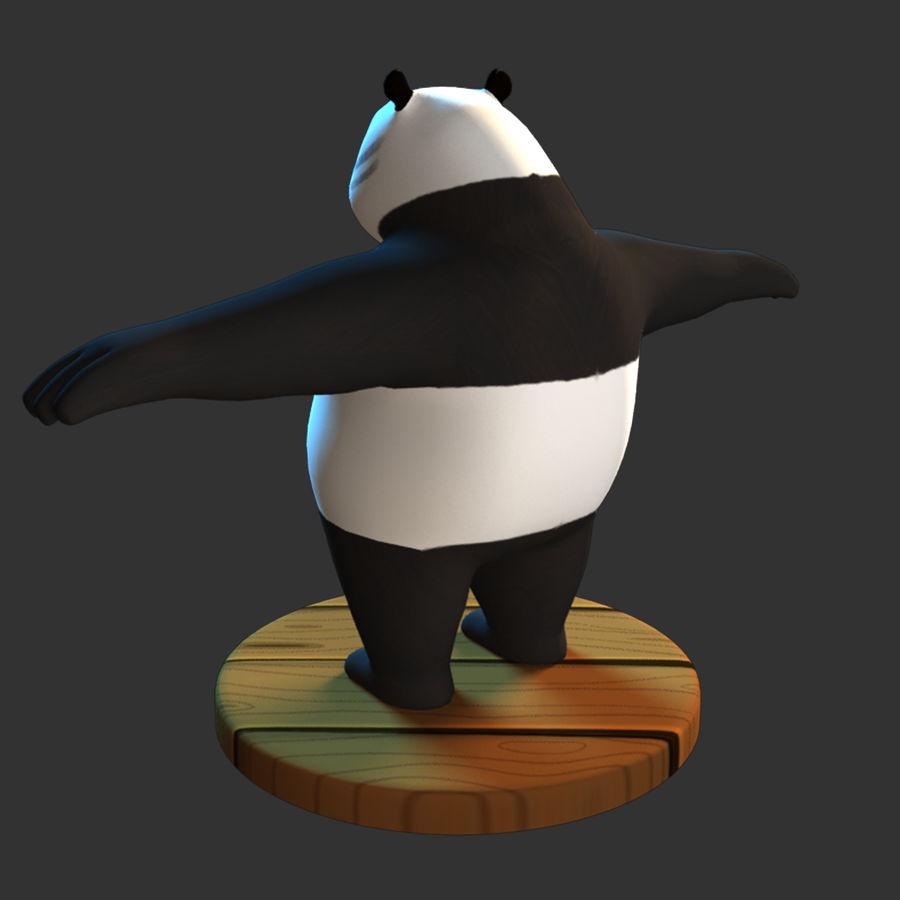 熊猫模型 royalty-free 3d model - Preview no. 6