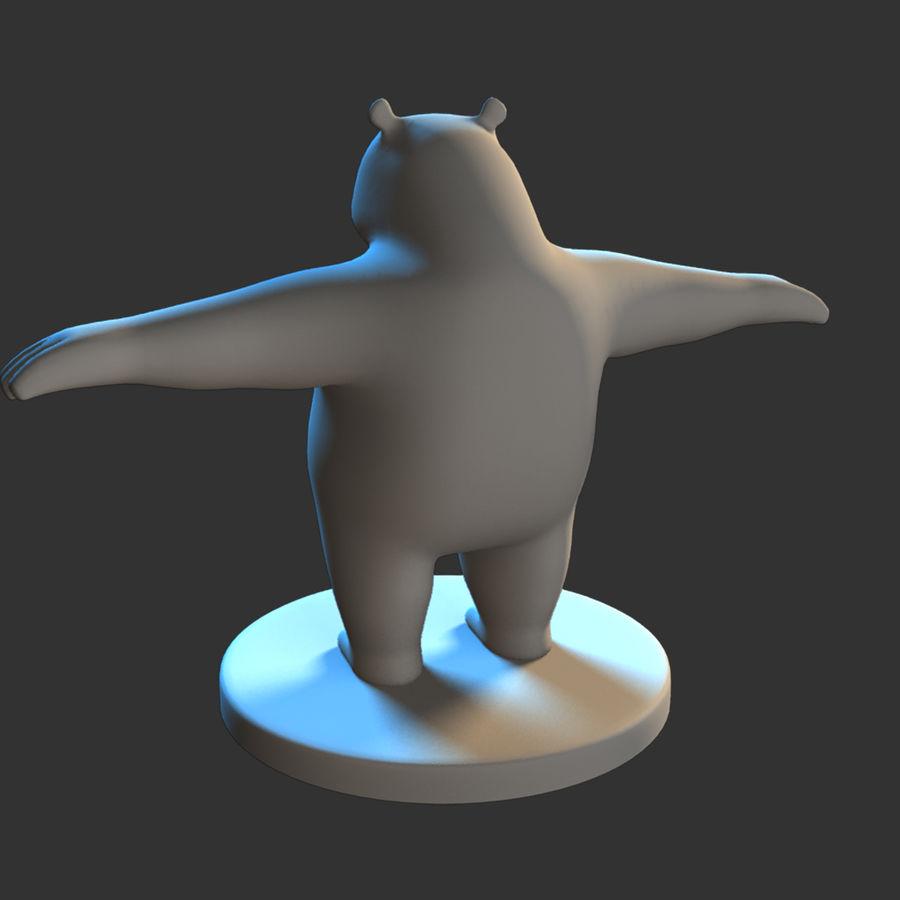 熊猫模型 royalty-free 3d model - Preview no. 9