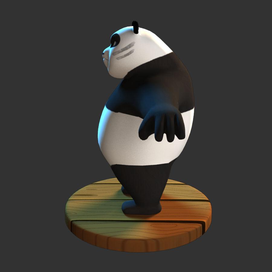 熊猫模型 royalty-free 3d model - Preview no. 5