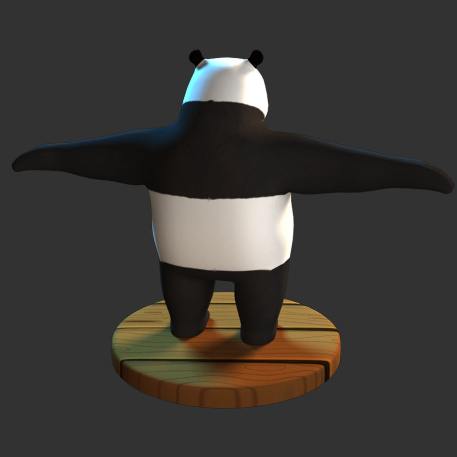 熊猫模型 royalty-free 3d model - Preview no. 7