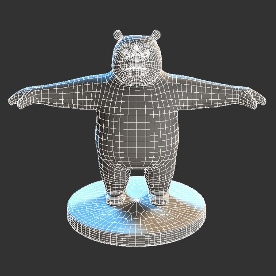 熊猫模型 royalty-free 3d model - Preview no. 2