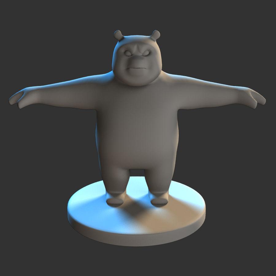 熊猫模型 royalty-free 3d model - Preview no. 1
