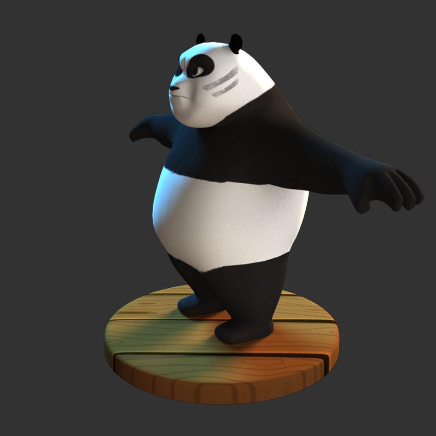 熊猫模型 royalty-free 3d model - Preview no. 4