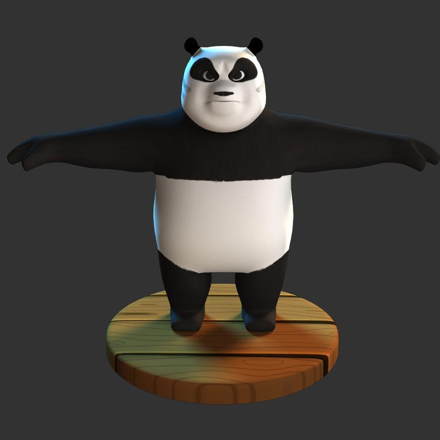 熊猫模型 royalty-free 3d model - Preview no. 3