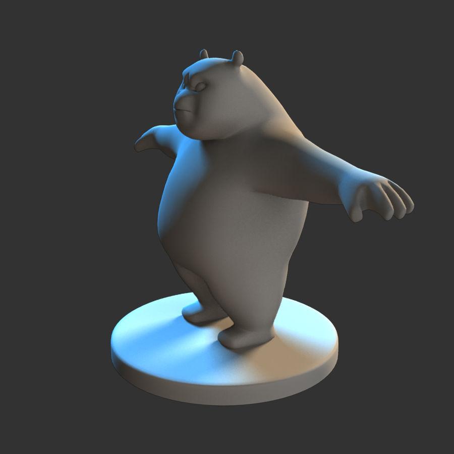 熊猫模型 royalty-free 3d model - Preview no. 8