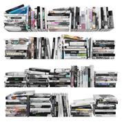 Bücher 150 Stück 4-4-2 3d model