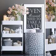 Schappen in de badkamer 3d model