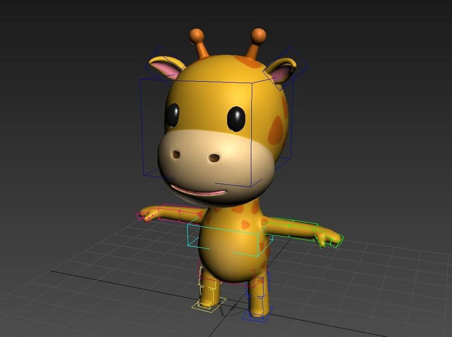 Rigged Giraffe royalty-free 3d model - Preview no. 13