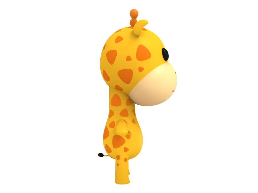 Rigged Giraffe royalty-free 3d model - Preview no. 8