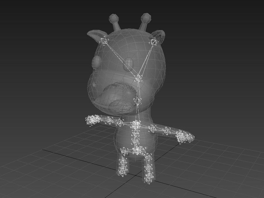 Rigged Giraffe royalty-free 3d model - Preview no. 15