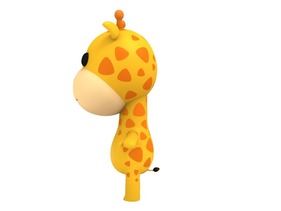Rigged Giraffe royalty-free 3d model - Preview no. 7