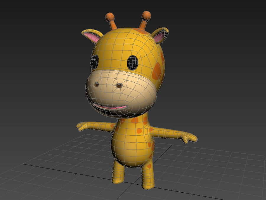Rigged Giraffe royalty-free 3d model - Preview no. 14
