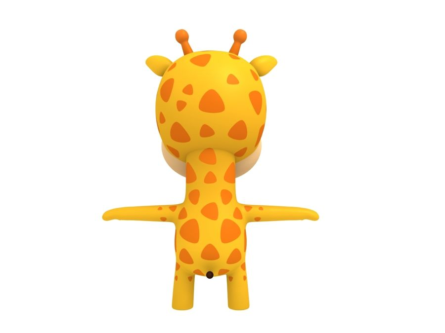 Rigged Giraffe royalty-free 3d model - Preview no. 9