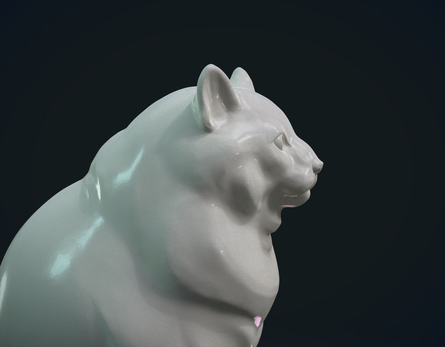 印刷可能な猫 royalty-free 3d model - Preview no. 2