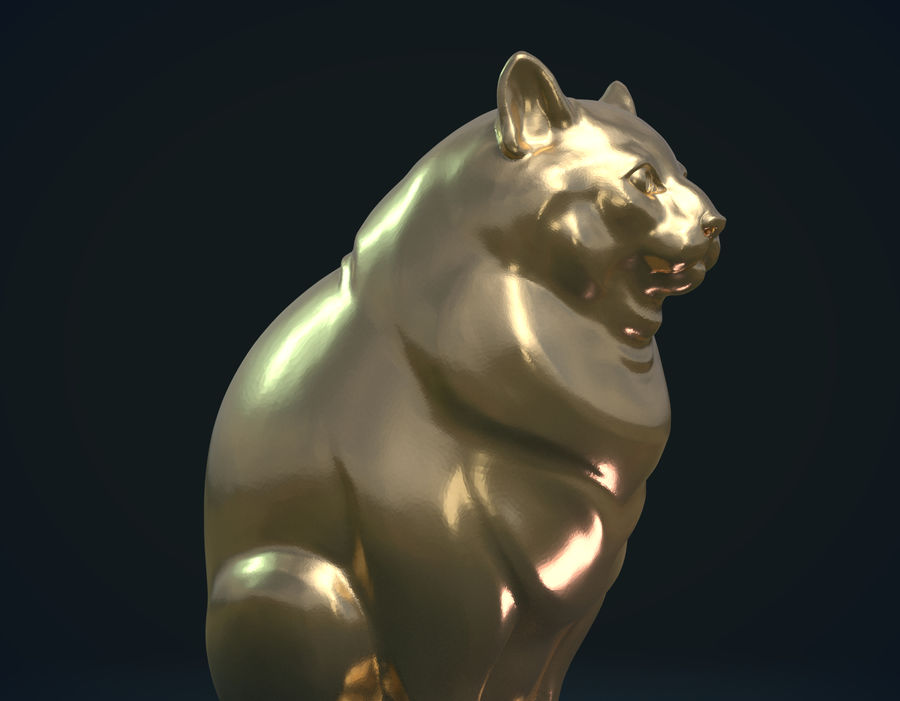 印刷可能な猫 royalty-free 3d model - Preview no. 9