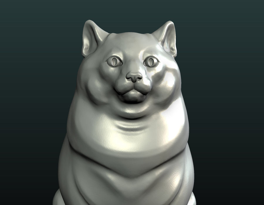 印刷可能な猫 royalty-free 3d model - Preview no. 19