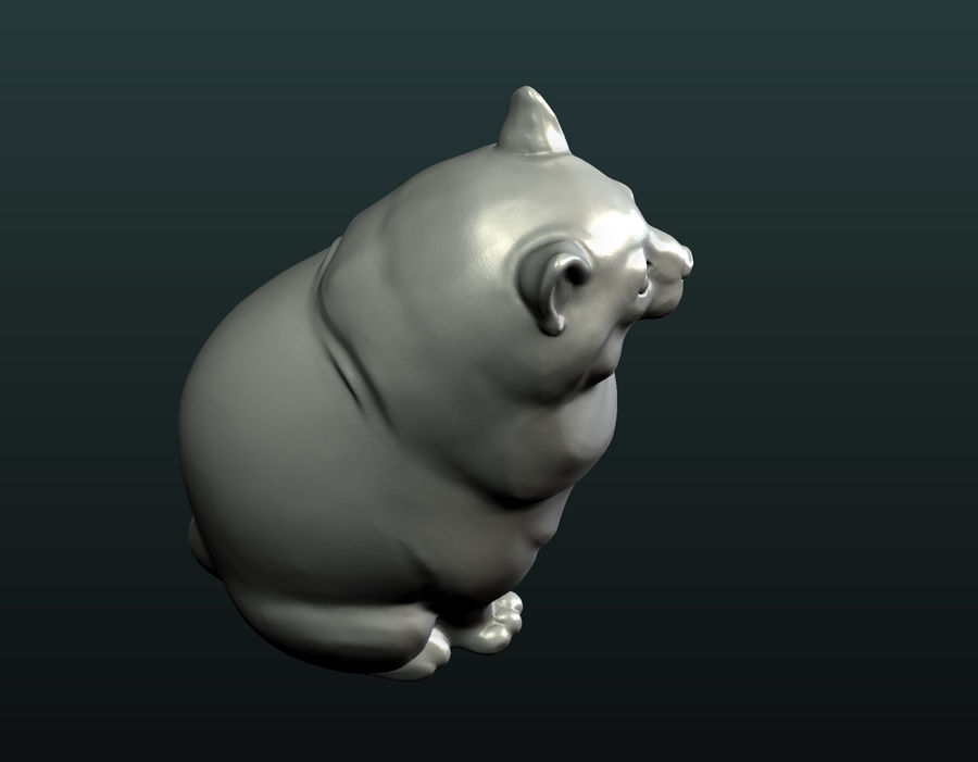 印刷可能な猫 royalty-free 3d model - Preview no. 20