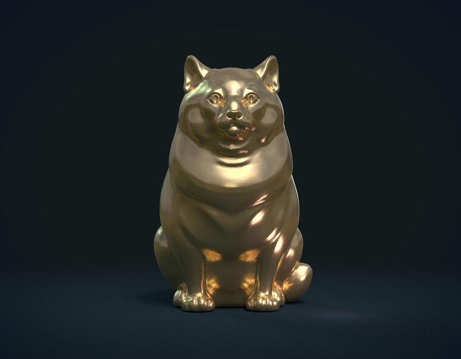印刷可能な猫 royalty-free 3d model - Preview no. 12