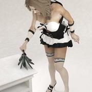 Maid static pose 1 3d model