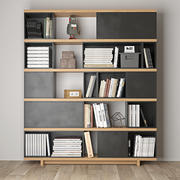 книжный шкаф 3d model