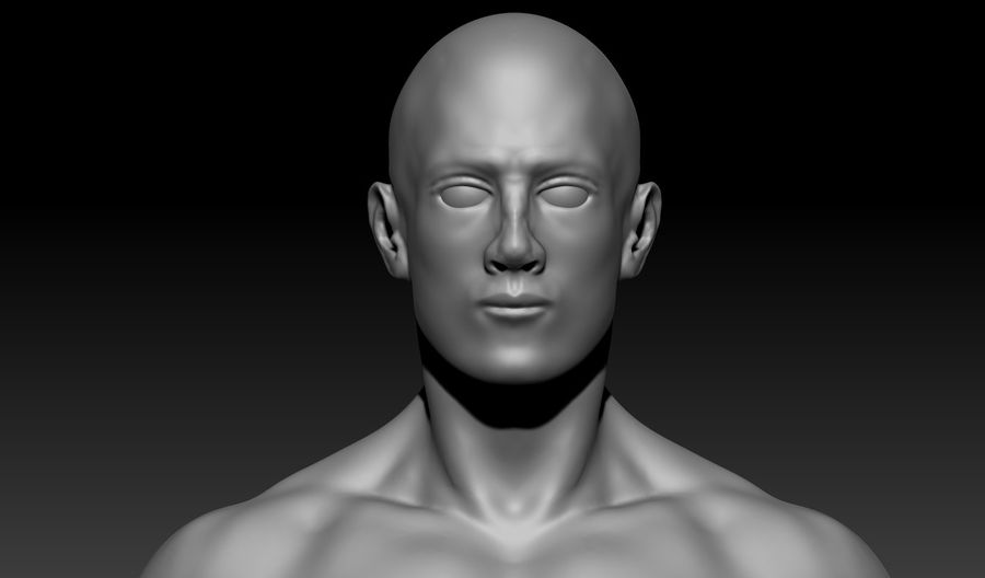 クリーンなトポロジーの人間男性ベースメッシュ3D royalty-free 3d model - Preview no. 2