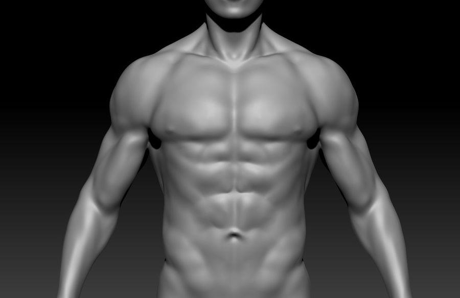 クリーンなトポロジーの人間男性ベースメッシュ3D royalty-free 3d model - Preview no. 4