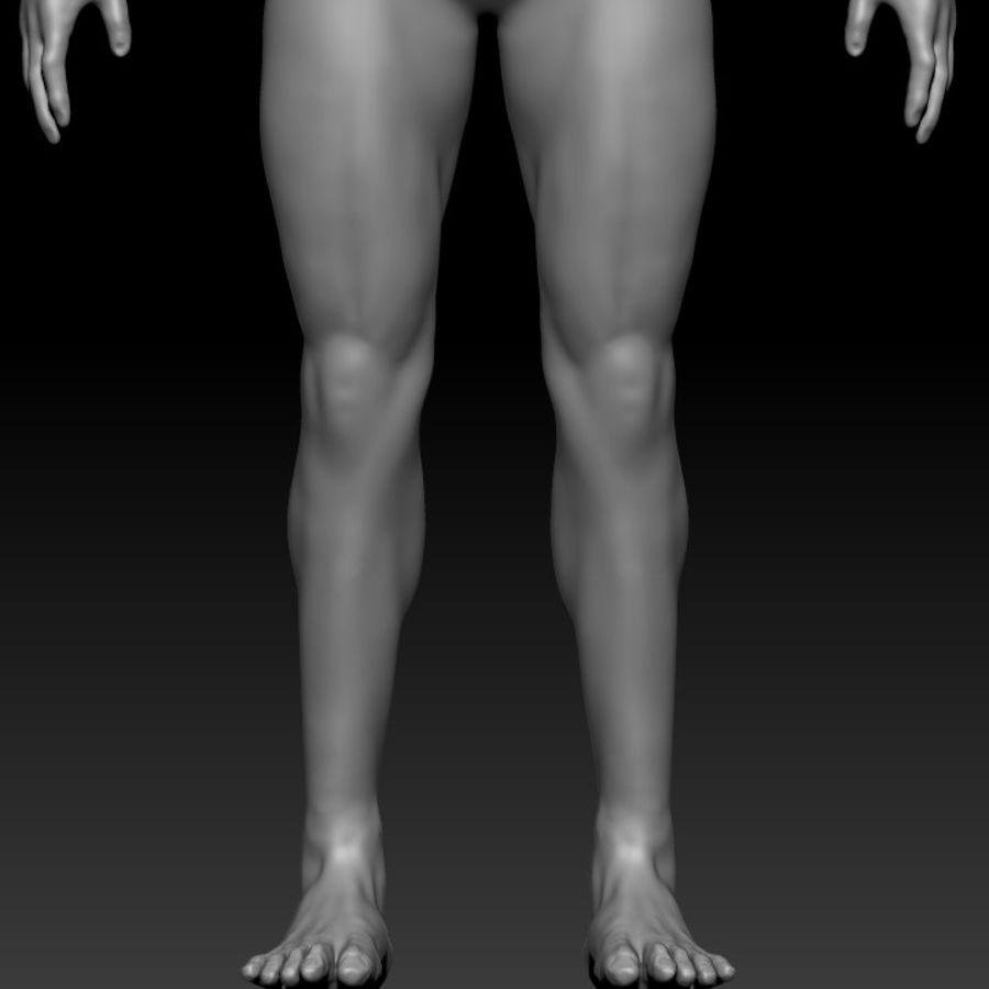 クリーンなトポロジーの人間男性ベースメッシュ3D royalty-free 3d model - Preview no. 7