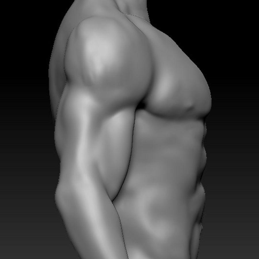 クリーンなトポロジーの人間男性ベースメッシュ3D royalty-free 3d model - Preview no. 5